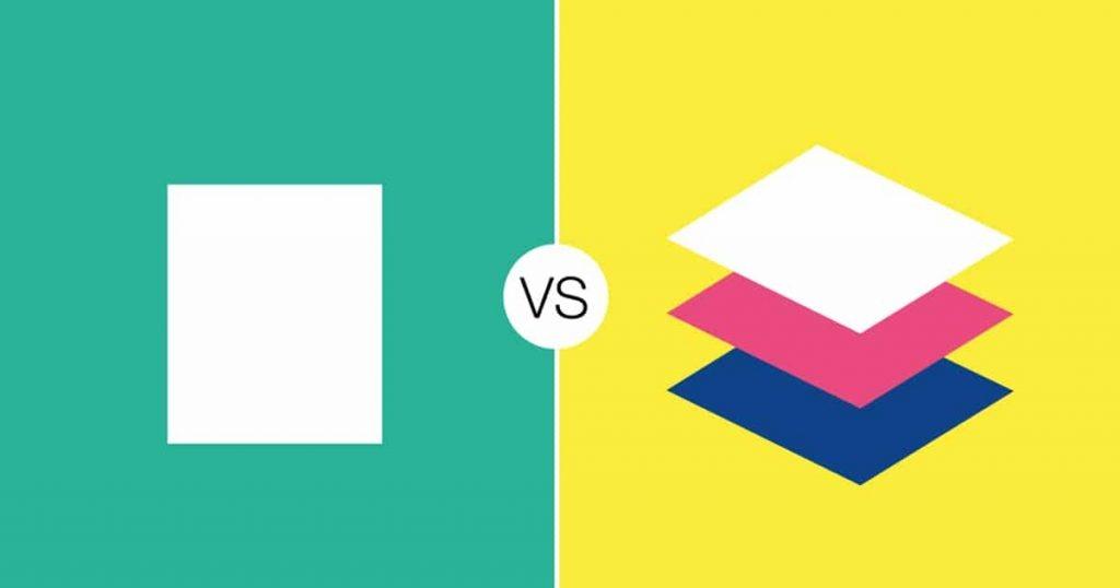 flat ou material design